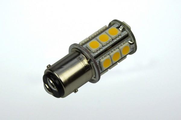 BAY15D LED-Stiftsockellampe LED18STBAYLo Niedervolt DC-kompatibel (gleichstrom-fähig) warmweiss (3000°K) wasserabweisend. Einsetzbar im Spannungsbereich: 10-18V AC