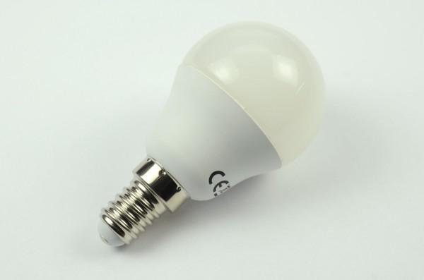 E14 LED-Globe G45 LED4x1G4514LmKW Hochvolt DC-kompatibel (gleichstrom-fähig) kaltweiss (6000°K) . Einsetzbar im Spannungsbereich: 60-265V AC