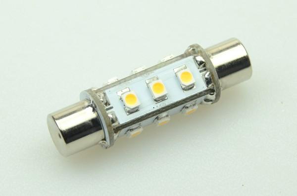 S8x42 LED-Soffitte LED12So42L Niedervolt DC-kompatibel (gleichstrom-fähig) warmweiss (2900°K) . Einsetzbar im Spannungsbereich: 10-18V AC