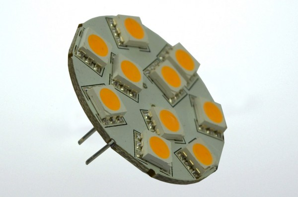 GZ4 LED-Modul LED10MZ4L Niedervolt DC-kompatibel (gleichstrom-fähig) warmweiss (3000°K) dimmbar. Einsetzbar im Spannungsbereich: 10-18V AC