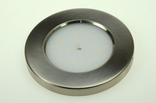 LED-Aufbauleuchte Niedervolt DC-kompatibel (gleichstrom-fähig) LED24CPLS warmweiss (3000°K) Schalter, integrierter Dimmer. Einsetzbar im Spannungsbereich: 10-30V DC