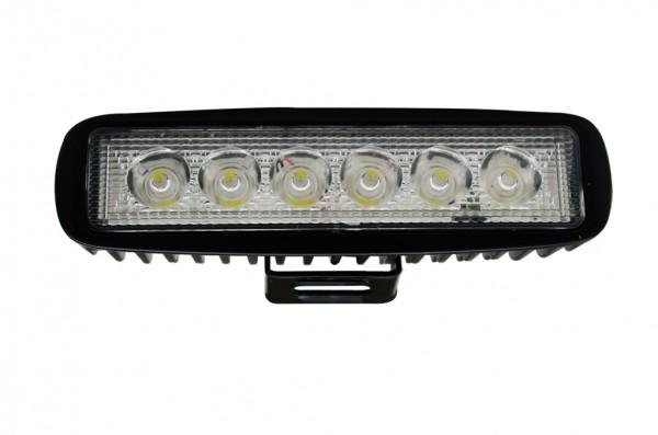 LED-Suchscheinwerfer Niedervolt DC-kompatibel (gleichstrom-fähig) LED6x2DVL22SoKW kaltweiss (6500K°K) IP67. Einsetzbar im Spannungsbereich: 10-30V DC