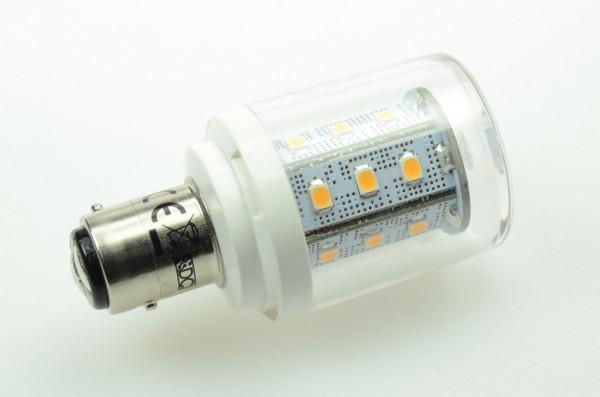 BAY15D LED-Bajonettsockellampe LED24TuBAYL Niedervolt DC-kompatibel (gleichstrom-fähig) warmweiss (2700°K) dimmbar. Einsetzbar im Spannungsbereich: 10-18V AC