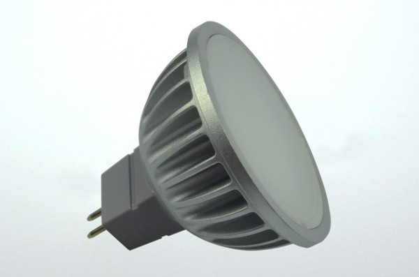 GU5.3 LED-Spot PAR16 LED4S53LD Niedervolt DC-kompatibel (gleichstrom-fähig) warmweiss (2700°K) dimmbar. Einsetzbar im Spannungsbereich: 12V AC