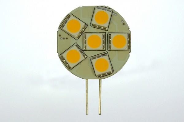 G4 LED-Modul LED6MG4L Niedervolt DC-kompatibel (gleichstrom-fähig) warmweiss (3000°K) dimmbar. Einsetzbar im Spannungsbereich: 10-18V AC