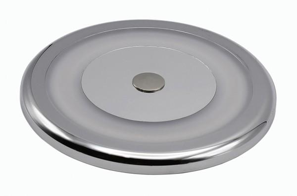 LED-Aufbauleuchte Niedervolt DC-kompatibel (gleichstrom-fähig) LED27PALRTD warmweiss (3000°K) Dimmschalter. Einsetzbar im Spannungsbereich: 10-30V DC