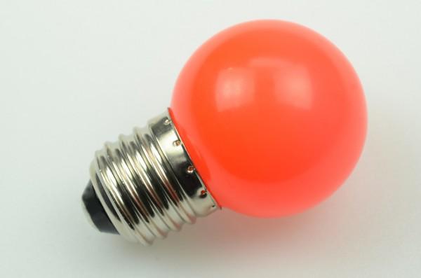 E27 LED-Globe LB45 LED6G4527Lro Hochvolt rot (600-610nm°K) . Einsetzbar im Spannungsbereich: 220-240V AC