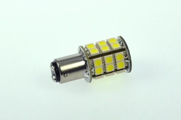BA15D LED-Bajonettsockellampe LED30STBADLKW Niedervolt DC-kompatibel (gleichstrom-fähig) kaltweiss (6500°K) dimmbar. Einsetzbar im Spannungsbereich: 10-18V AC