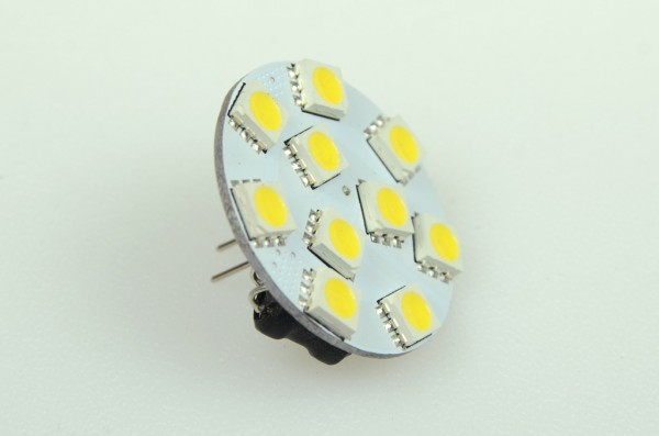 GZ4 LED-Modul LED10MZ4LKW Niedervolt DC-kompatibel (gleichstrom-fähig) warmweiss (3000°K) dimmbar. Einsetzbar im Spannungsbereich: 10-18V AC