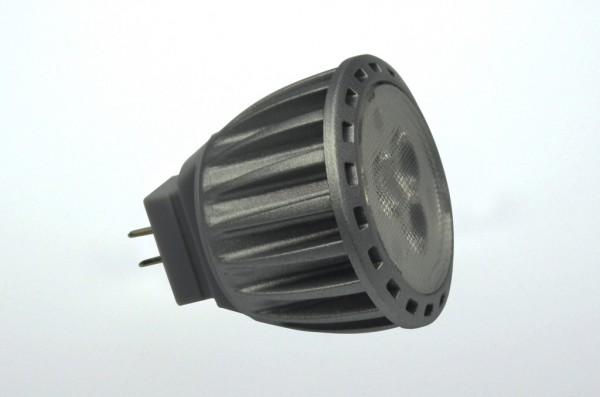 GU4 LED-Spot MR11 LED3Su4S Niedervolt DC-kompatibel (gleichstrom-fähig) warmweiss (3000°K) dimmbar. Einsetzbar im Spannungsbereich: 12V AC