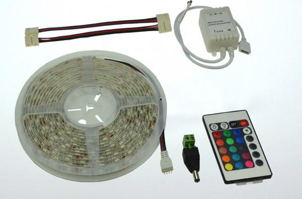 LED-Lichtband Niedervolt DC-kompatibel (gleichstrom-fähig) LED30RGBKit RGB (rgb°K) dimmbar. Einsetzbar im Spannungsbereich: 12V DC