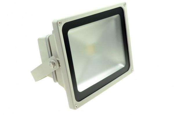LED-Flutlichtstrahler Hochvolt LED30FS22LoKW kaltweiss (6000°K) . Einsetzbar im Spannungsbereich: 100-240V AC