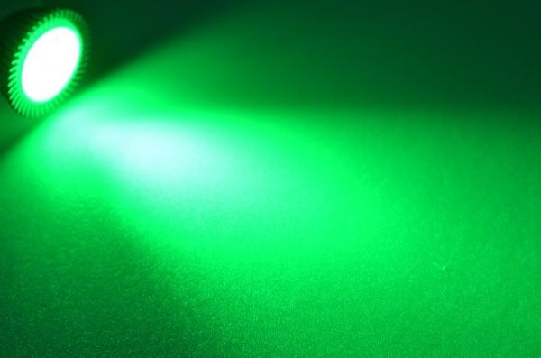 GU5.3 LED-Spot PAR16 LED3x1S53Sgr Niedervolt DC-kompatibel (gleichstrom-fähig) Grün (520 - 525 nm°K) . Einsetzbar im Spannungsbereich: