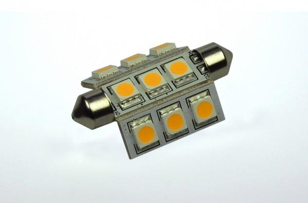 S8x42 LED-Soffitte LED9So42L Niedervolt DC-kompatibel (gleichstrom-fähig) warmweiss (3000°K) dimmbar. Einsetzbar im Spannungsbereich: 10-18V AC