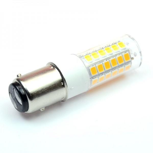 BAY15D LED-Tubular LED51TUBAYL Niedervolt DC-kompatibel (gleichstrom-fähig) warmweiss (2700°K) . Einsetzbar im Spannungsbereich: 10-18V AC