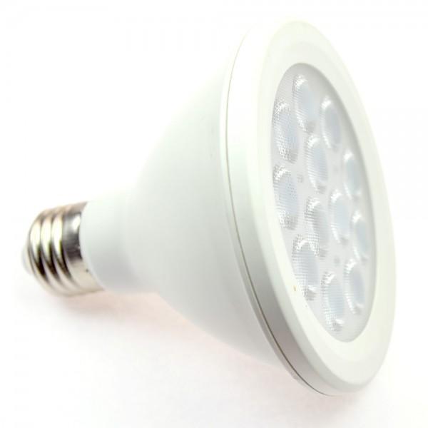 E27 LED-Spot PAR30 LED12S27S Hochvolt DC-kompatibel (gleichstrom-fähig) warmweiss (3000°K) . Einsetzbar im Spannungsbereich: 85-265V AC