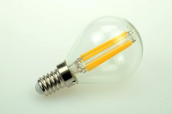 E14 LED-Globe LB45 LED4xFG4514Lk Hochvolt warmweiss (2700°K) . Einsetzbar im Spannungsbereich: 100-250V AC