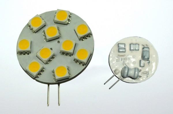 G4 LED-Modul LED10MG4Lo Niedervolt DC-kompatibel (gleichstrom-fähig) warmweiss (2800°K) dimmbar. Einsetzbar im Spannungsbereich: 10-18V AC
