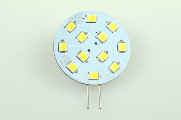 G4 LED-Modul LED12MG4LKW Niedervolt DC-kompatibel (gleichstrom-fähig) kaltweiss (6000°K) CRI>90. Einsetzbar im Spannungsbereich: 10-18V AC
