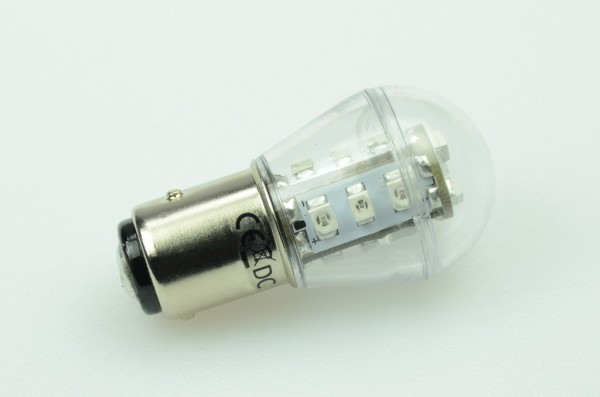 BA15S LED-Miniglobe LED15G25BASLro Niedervolt DC-kompatibel (gleichstrom-fähig) Rot Signallampe. Einsetzbar im Spannungsbereich: 10-18V AC