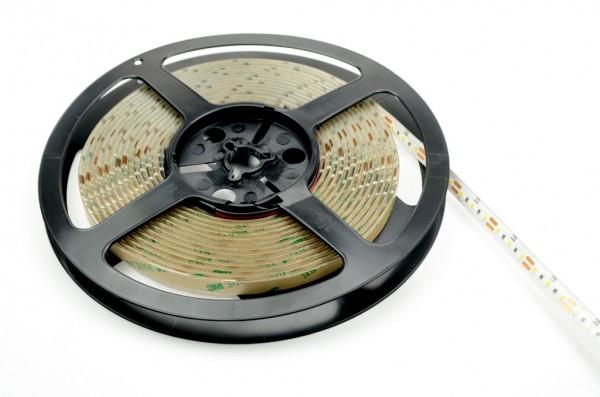 LED-Lichtband Niedervolt DC-kompatibel (gleichstrom-fähig) LED120B500w22KWo kaltweiss (5000-6000°K) IP54 Silikon, CRI >90. Einsetzbar im Spannungsbereich: 12V DC